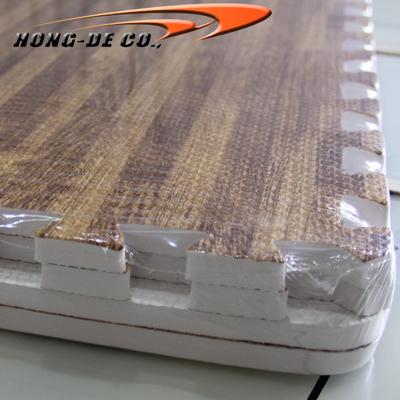 D.Oak Soft Wood Floor Tiles - EVA foam softer , safety passing EN71,REACH, Formamide
