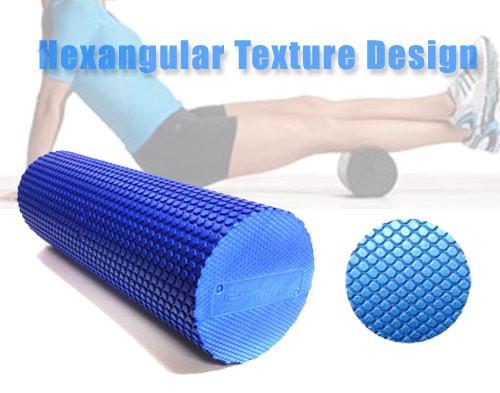 Foam Roller with Hexangular Textured EVA foam