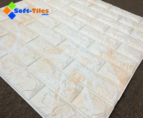 China 3D Brick Thicken Soft PE Foam Wall Sticker Panels Wallpaper Decor supplier