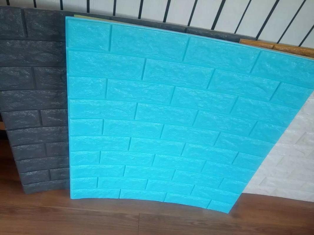 PE foam 3D wallpaper Home Decoration with durable sticker